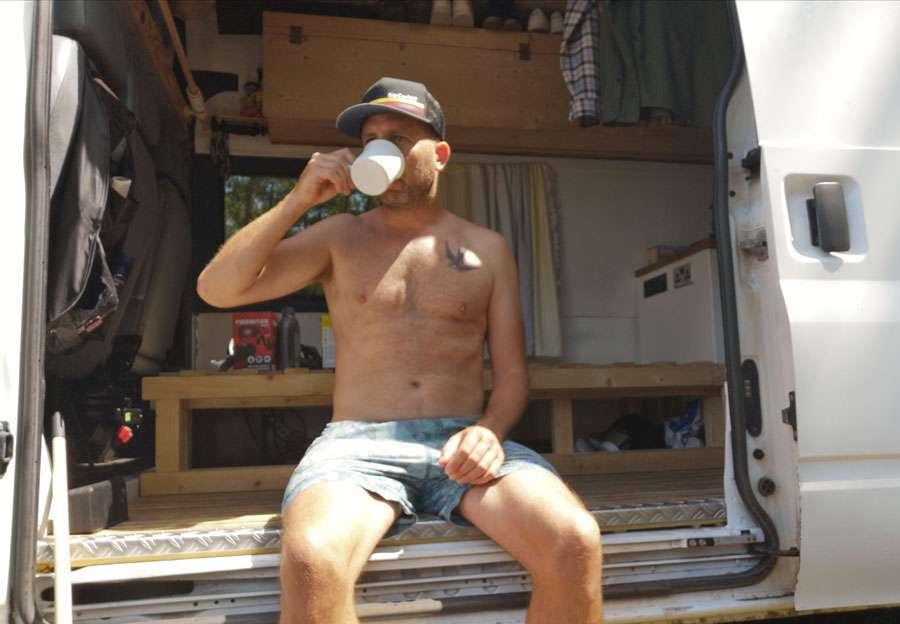 me in the camper