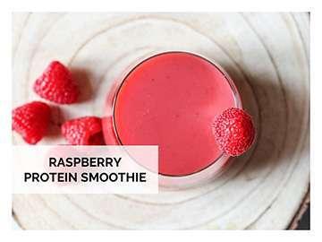 raspberry protein smoothie